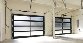 Aluminum and Glass Garage Door