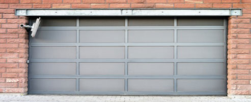 Commercial glass garage door