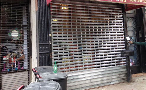 Store front gate in Brooklyn